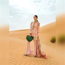 Crimson Lawn - A Mughal Backyard (Blush) 03B